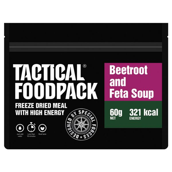 Tactical Foodpack Outdoor Nahrung Rote-Bete-Suppe mit Feta