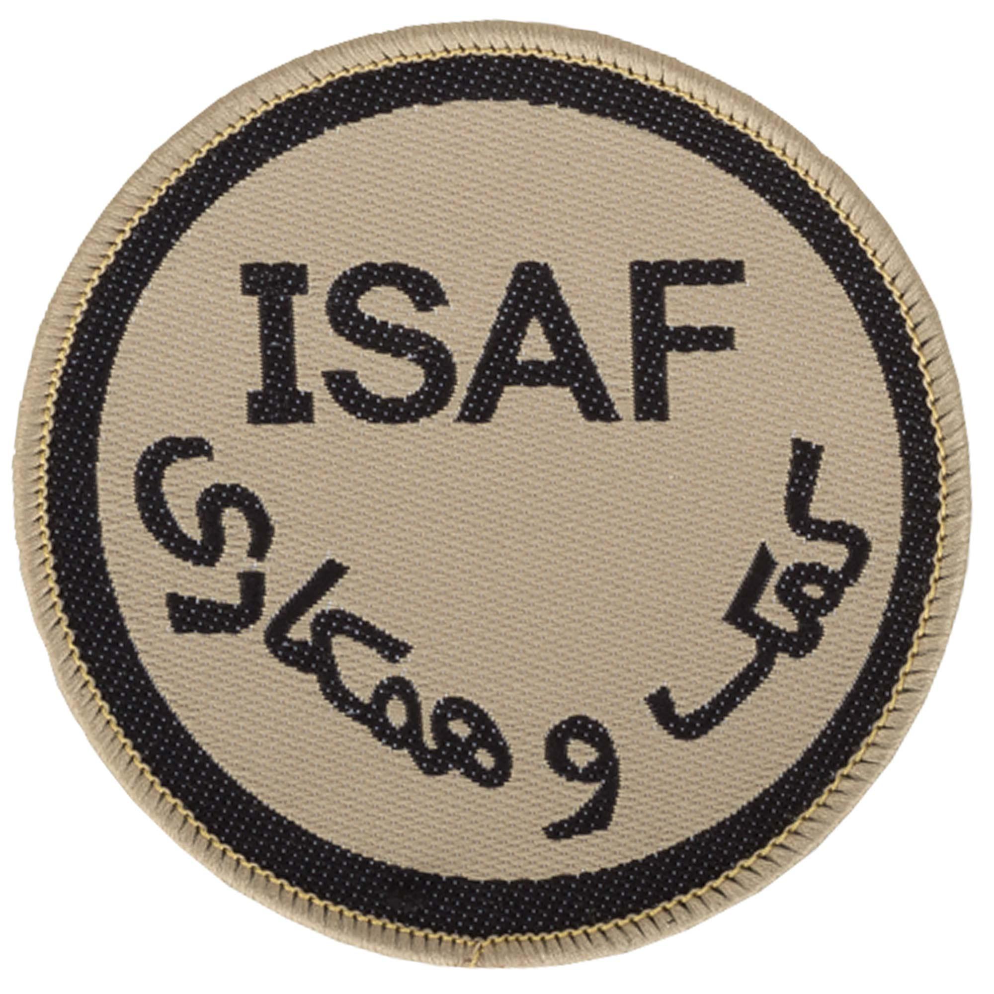 Abzeichen ISAF rund khaki neuwertig