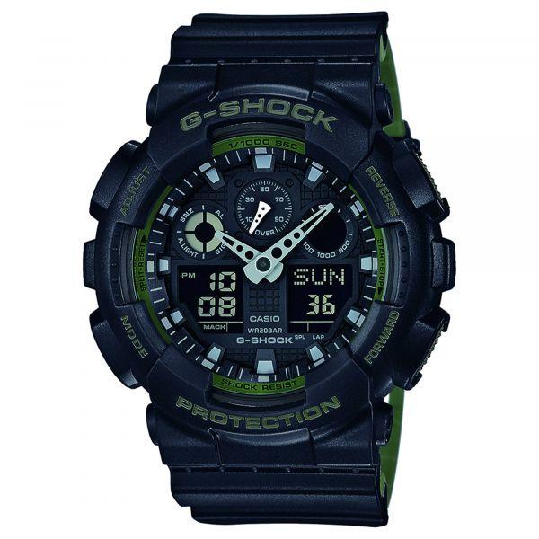 Casio Uhr G-Shock Classic GA-100L-1AER schwarz oliv