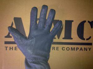 Gloves in hand