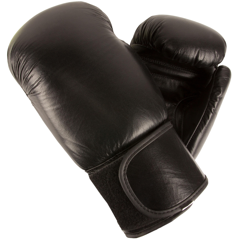 Sparringhandschuhe Rindsleder schwarz