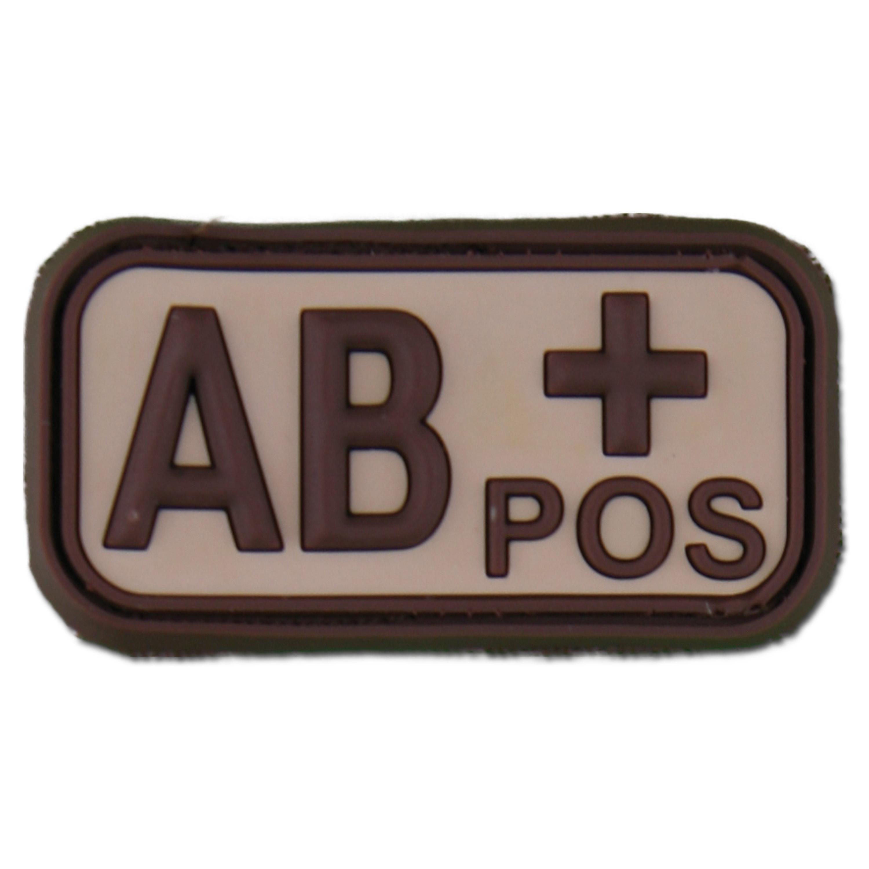3D Blutgruppenpatch AB Pos desert