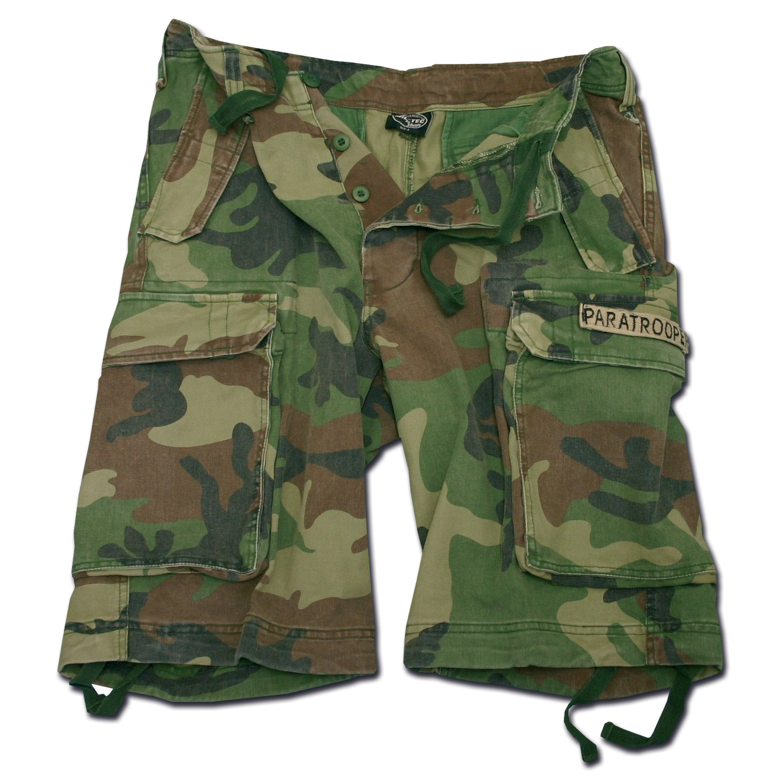 Paratrooper Shorts Mil-Tec washed woodland