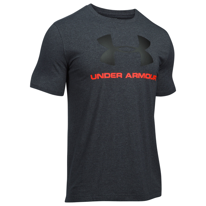 Under Armour Fitness Shirt Sportstyle Logo schwarz III