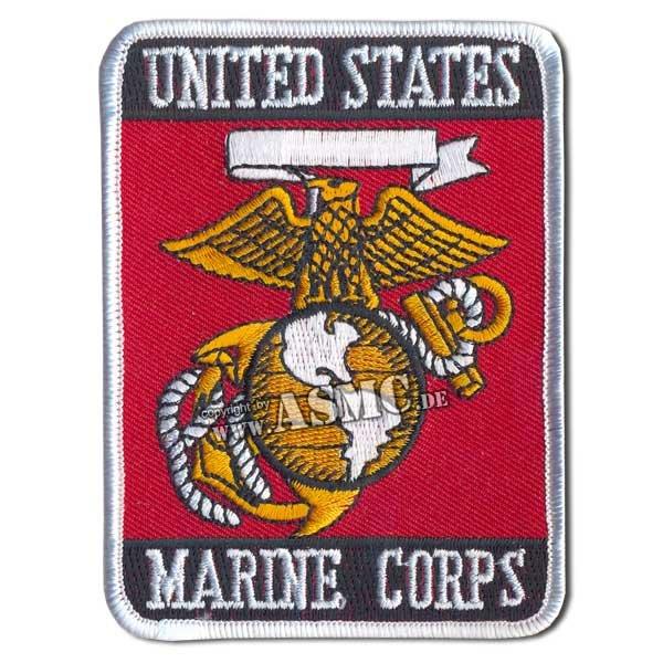 Abzeichen US Textil Marine Corps rechteckig