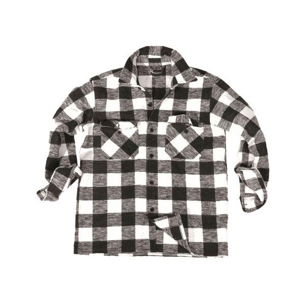 Mil-Tec Holzfällerhemd schwarz/weiß