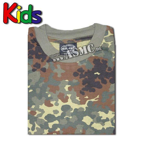 Kinder T-Shirt flecktarn