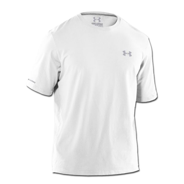 Under Armour T-Shirt Charged Cotton weiß