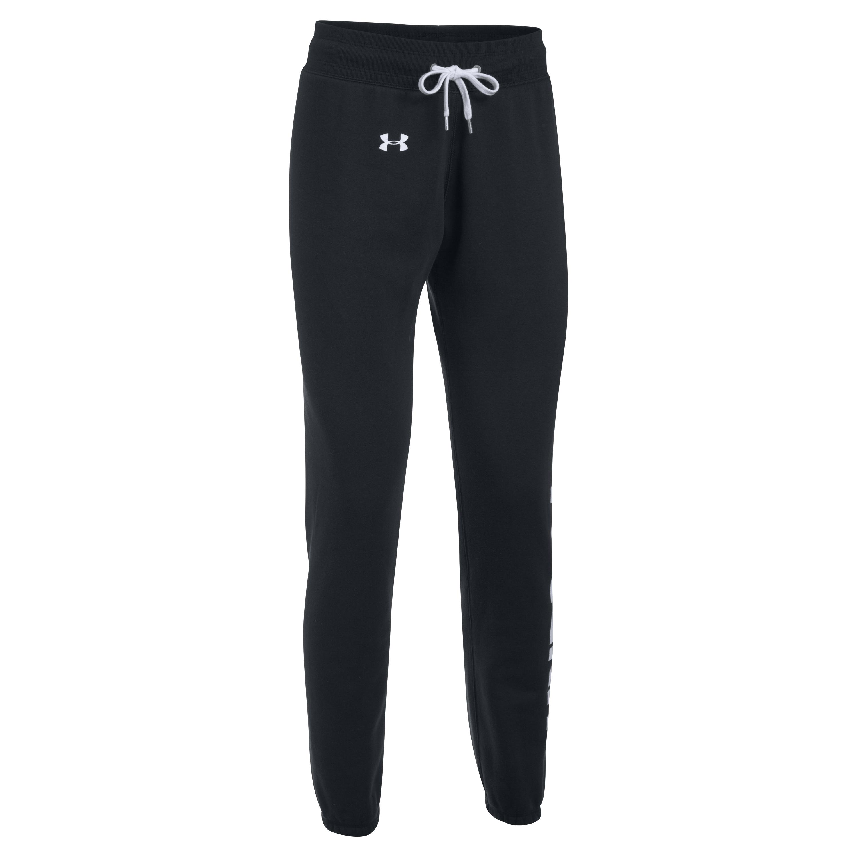 Under Armour Women Jogginghose Favorite Fleece schwarz weiß