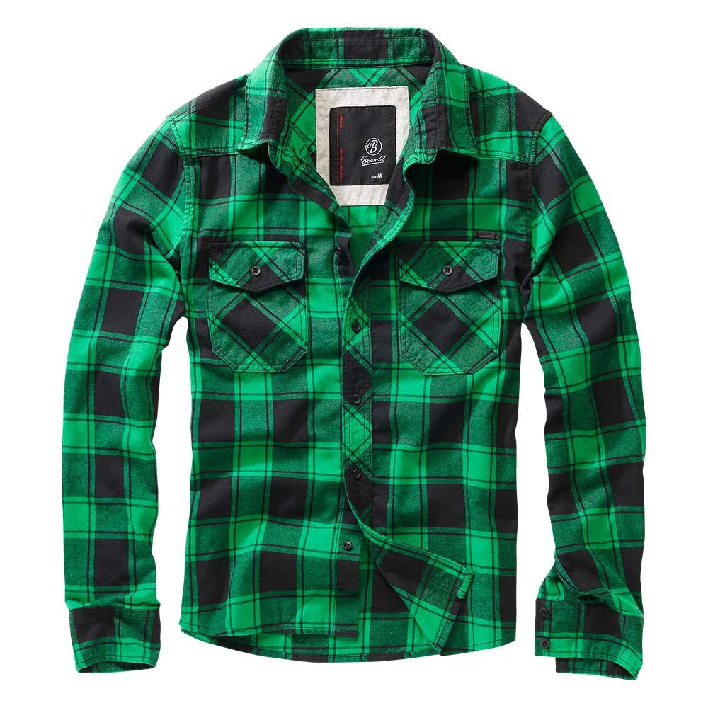 Brandit Checkshirt grün schwarz