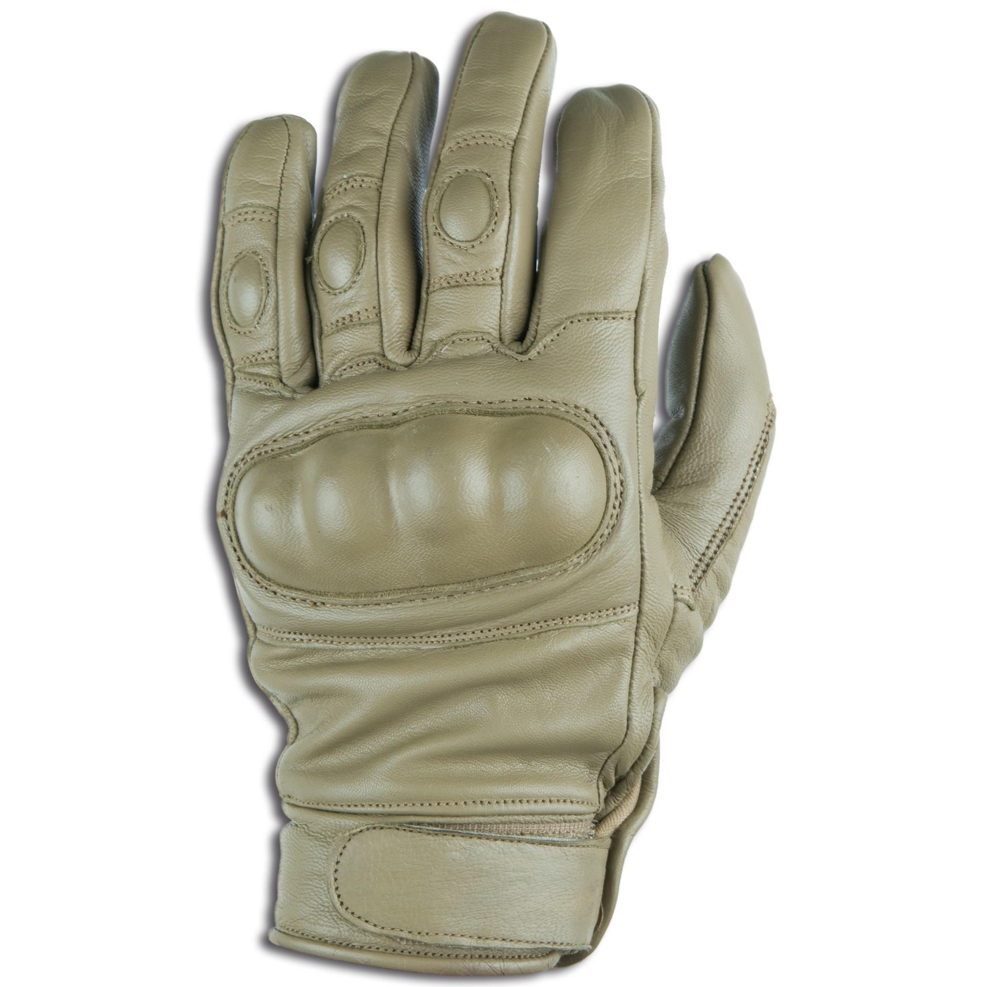 Handschuhe Tactical Pro Leder coyote