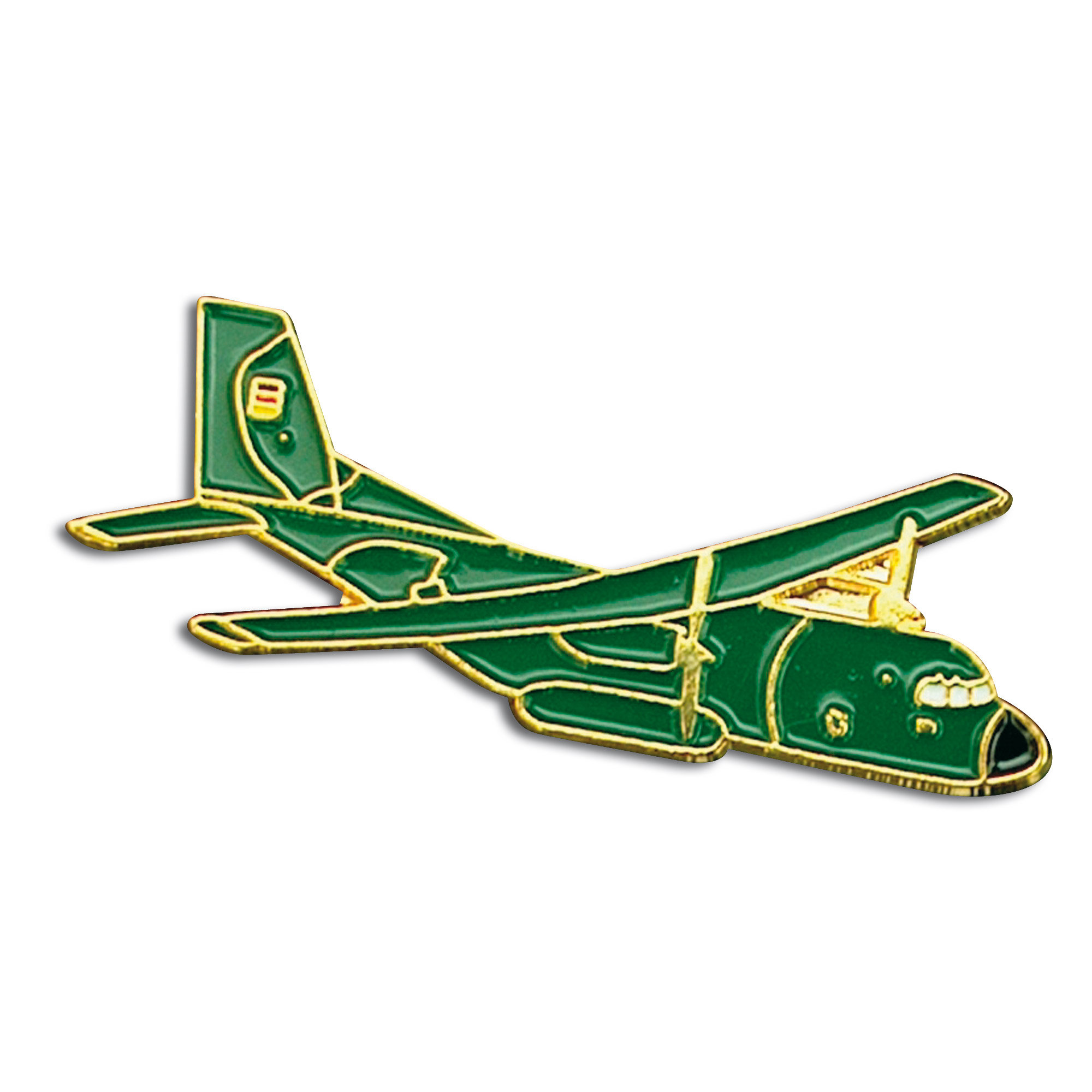 Pin Mini Metall Transall grün
