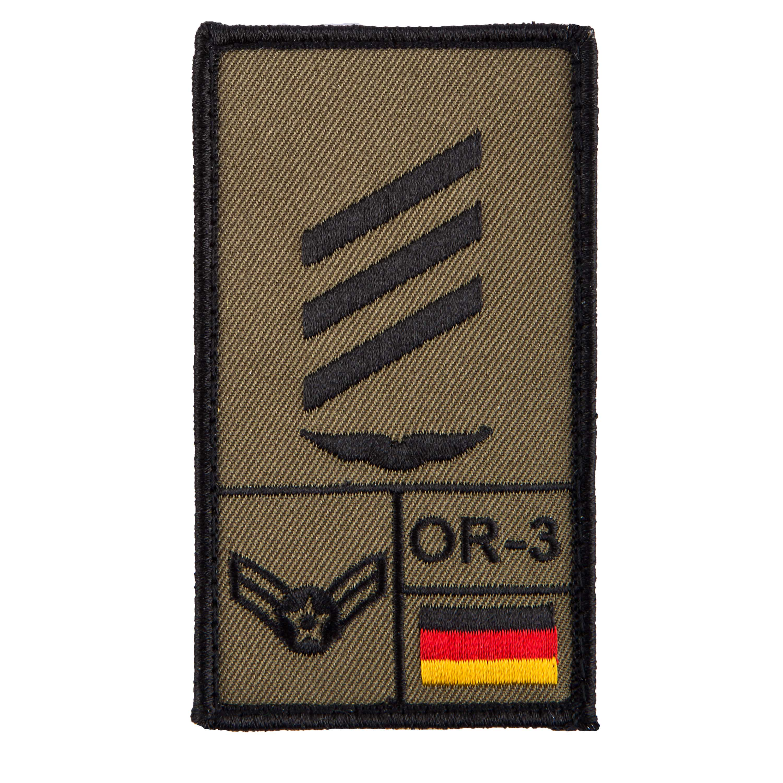 Café Viereck Rank Patch Hauptgefreiter Luftwaffe oliv