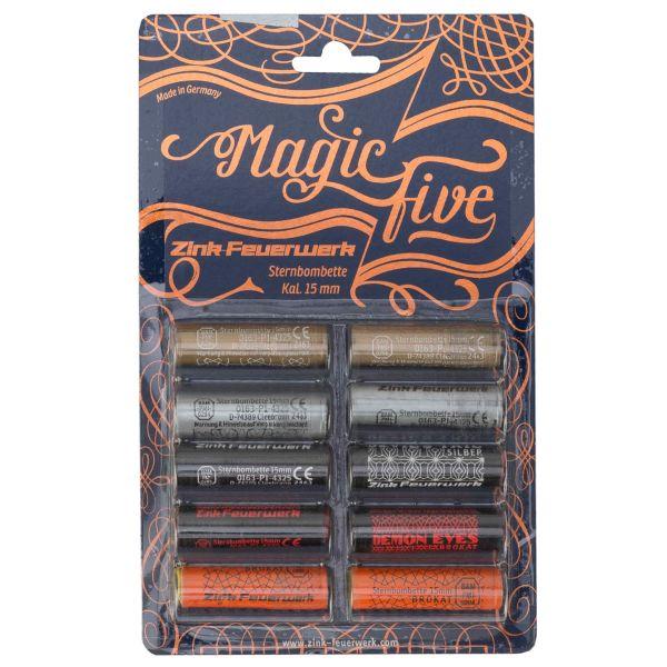 Zink Feuerwerk Magic Five Sortiment 15 mm 10 Stück