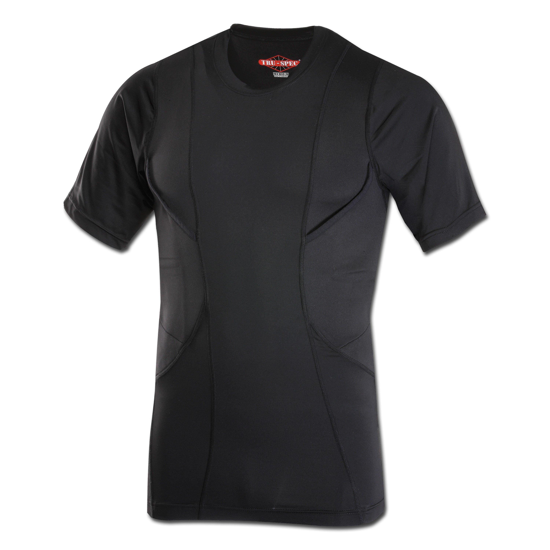 T-Shirt Tru-Spec 24-7 Series kurzarm Concealed Holster schwarz