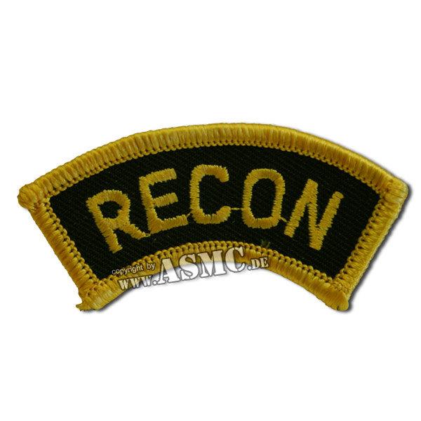 Armabzeichen US RECON gold/schwarz