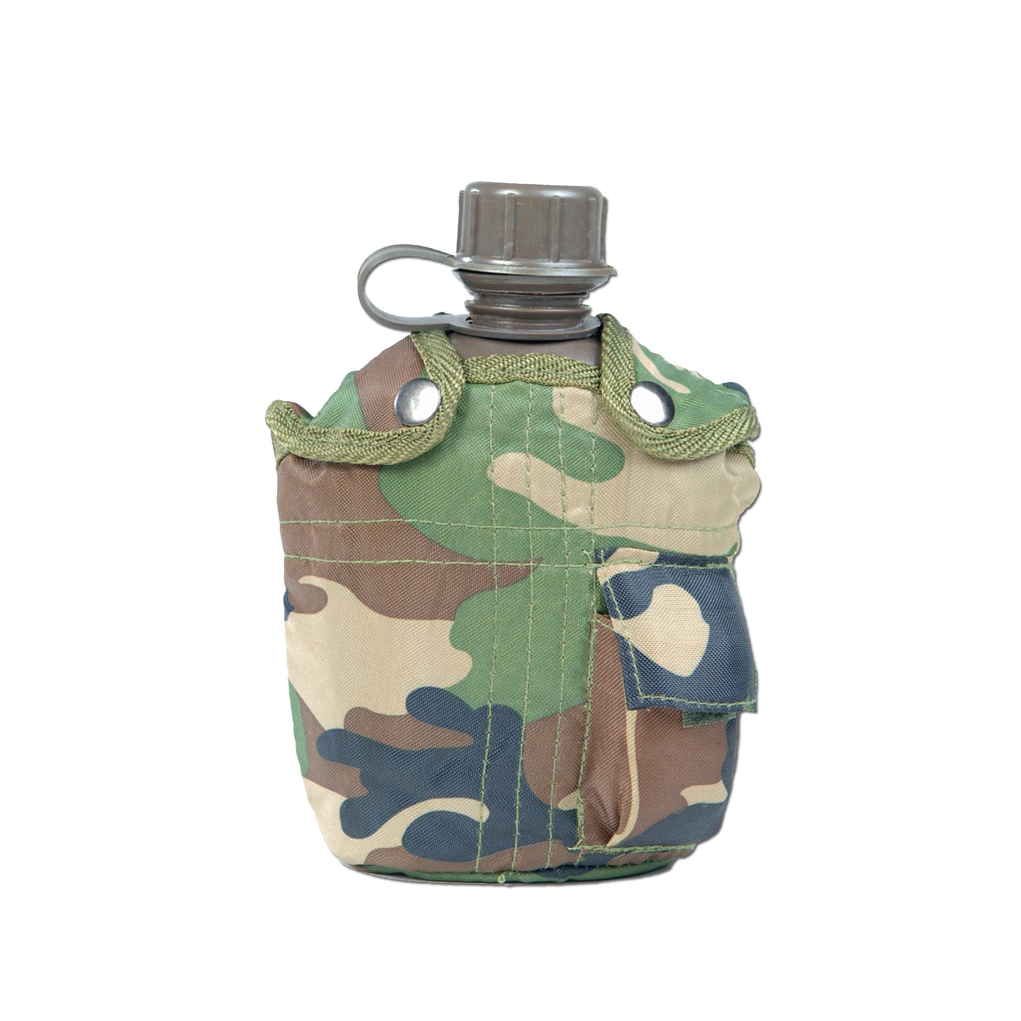 Feldflasche 1 qt. mit Becher und Hülle woodland