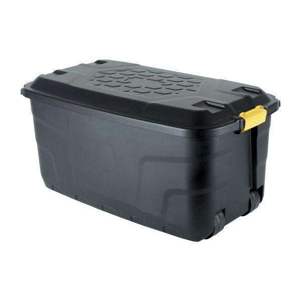 Aufbewahrungsbox Kunststoff 145 L schwarz