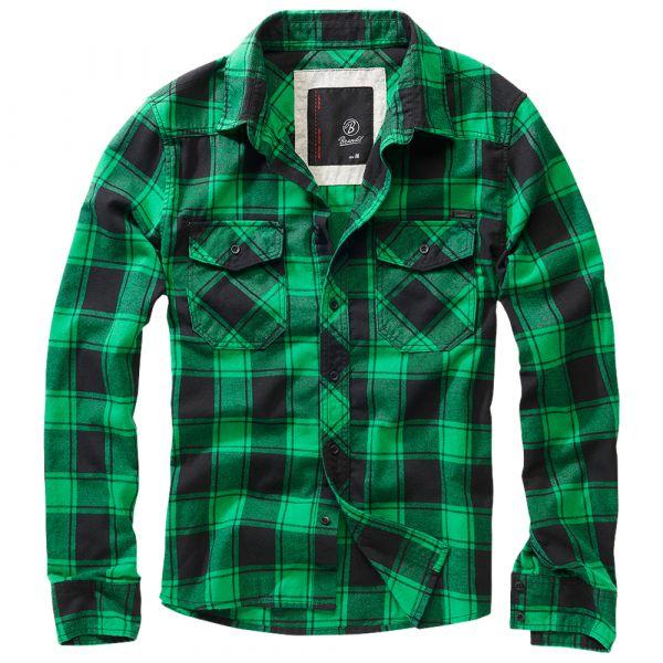 Brandit Checkshirt Oversize schwarz grün