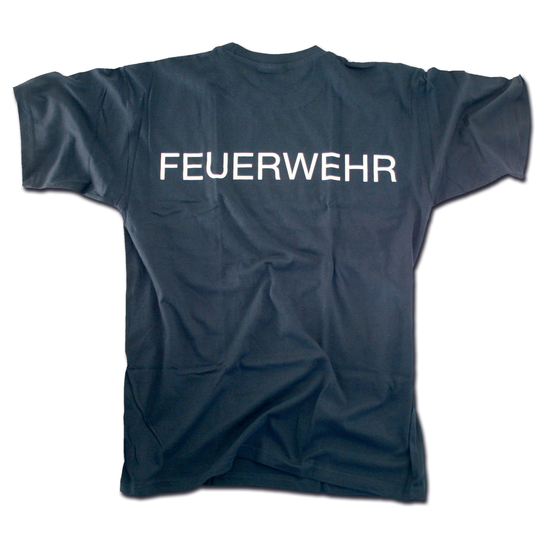 T-Shirt Feuerwehr blau-weiss