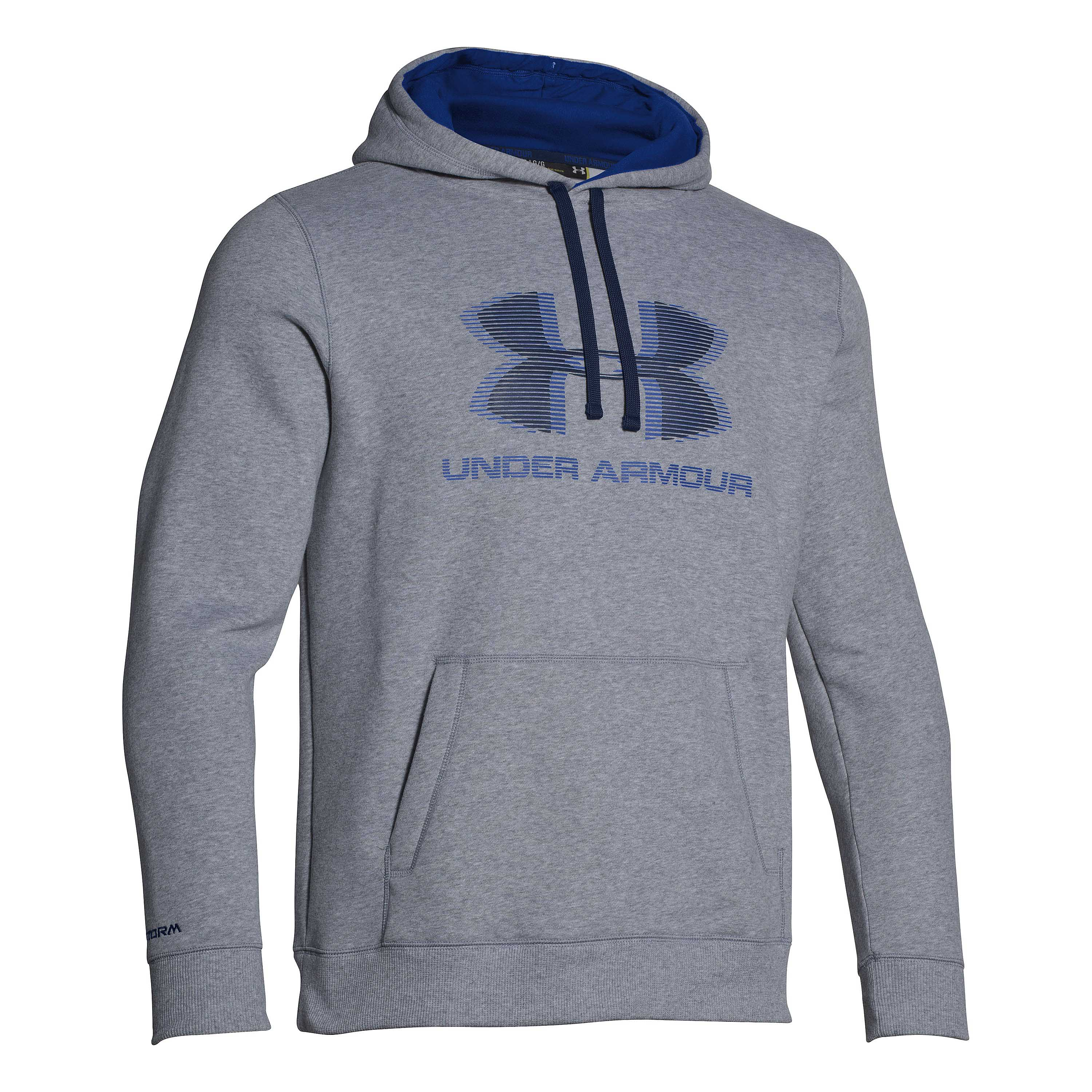 Under Armour Storm Rival Graphic Pullover grau-blau