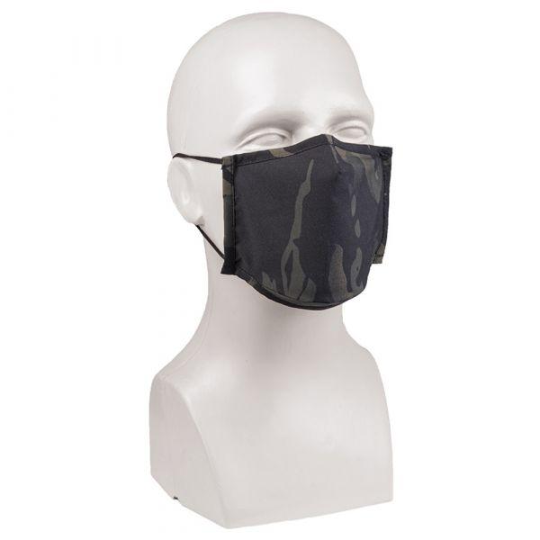 Mil-Tec Mund-Nasenbedeckung Square-Shape multitarn schwarz