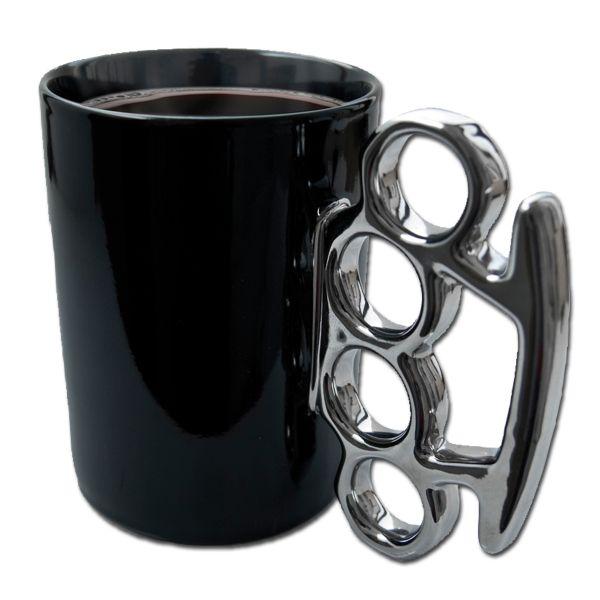 Schlagring Kaffeebecher 300 ml schwarz