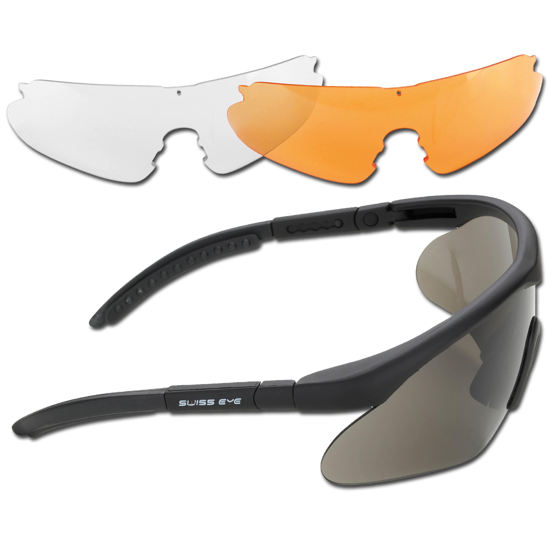Schutzbrille Swiss Eye Raptor schwarz