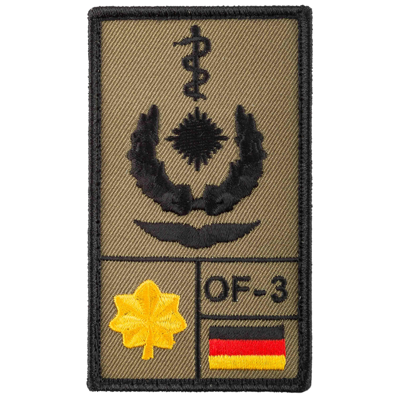 Café Viereck Rank Patch Oberstabsarzt Luftwaffe oliv