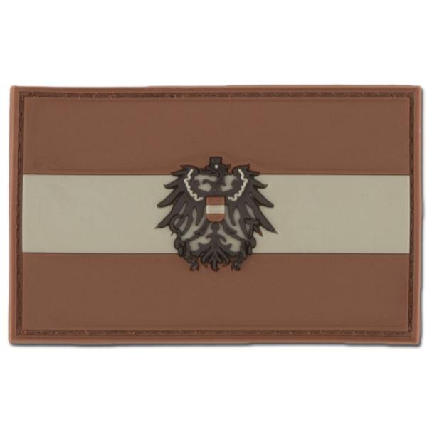 3D-Patch Österreich mit Wappen darkdesert