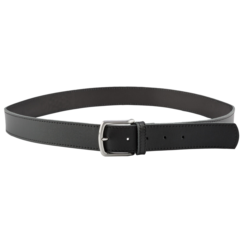 Heim Gürtel 40 mm breit Leder Ziernaht schwarz