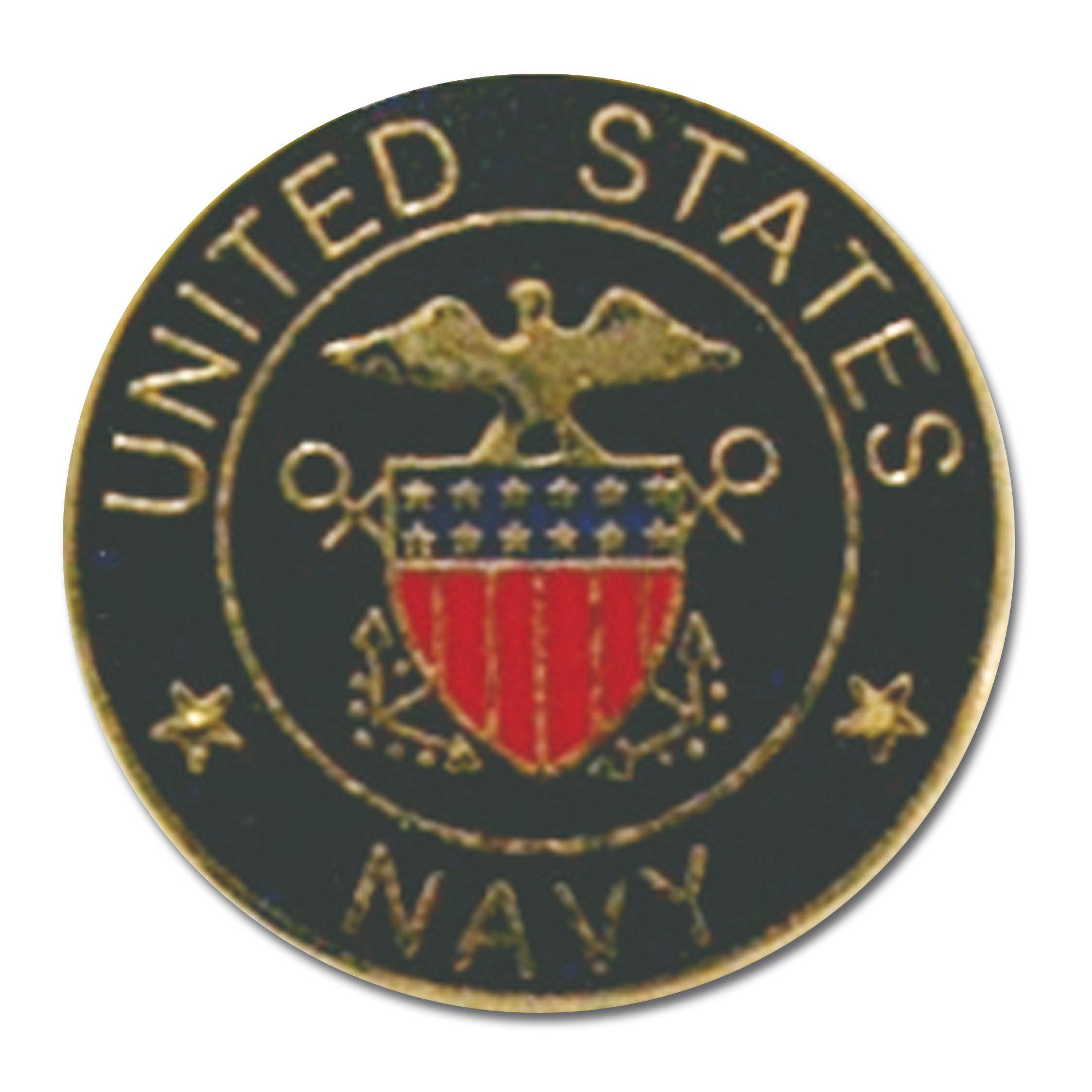 Pin Mini US Navy rund