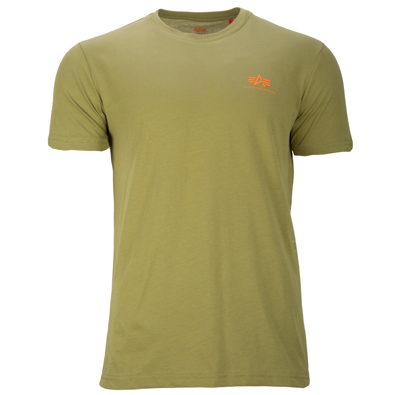 Alpha Industries T-Shirt Basic Small Logo khaki green