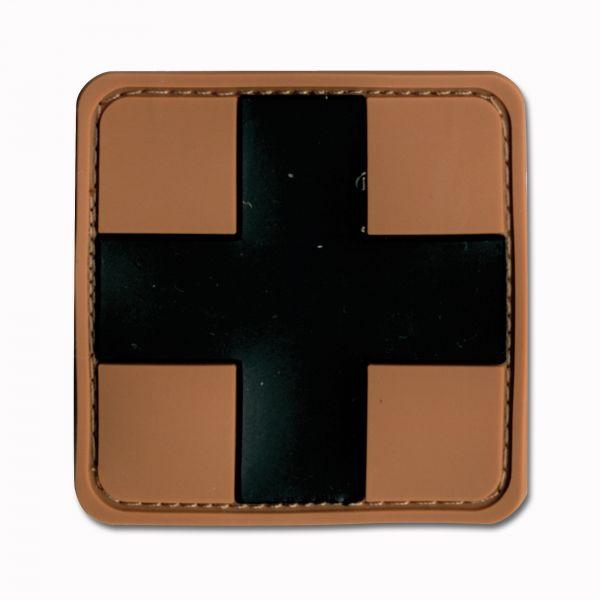 3D-Patch Red Cross Medic braun-schwarz
