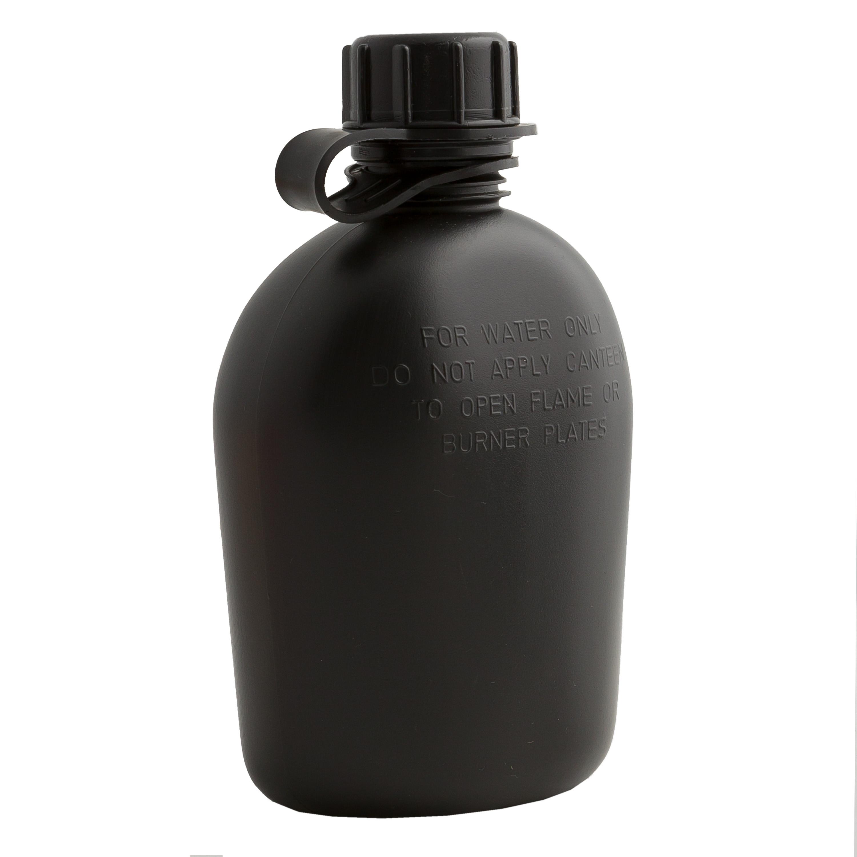 Feldflasche faltbar 1 qt schwarz