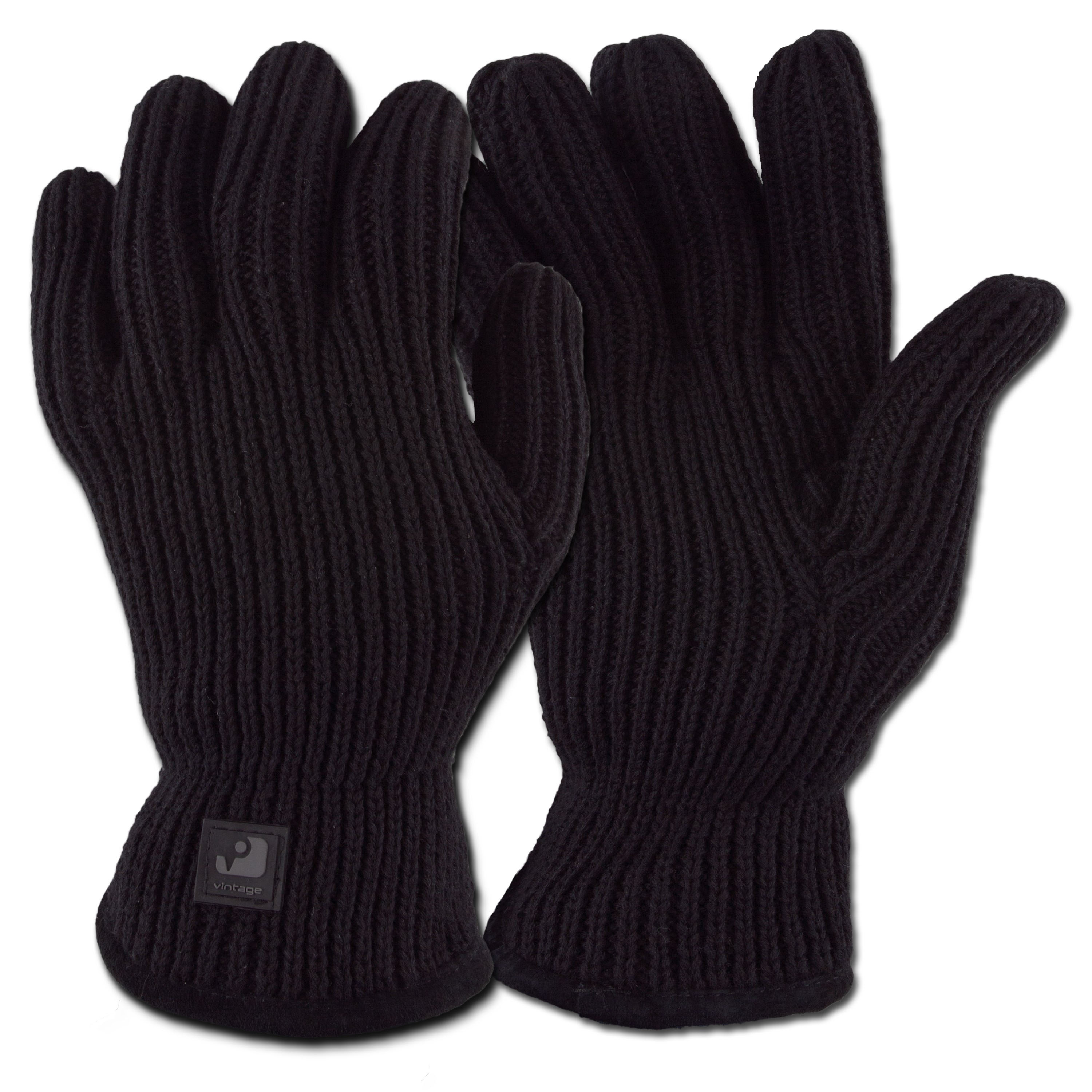 Strickhandschuh Vintage Industries Matrix Glove schwarz