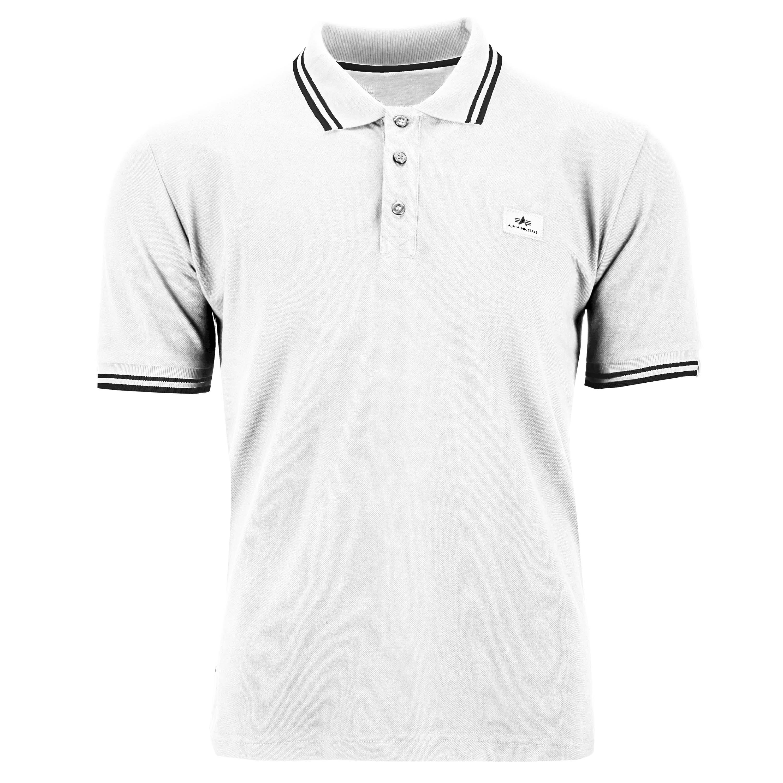 Alpha Industries Shirt Twin Stripe Polo II weiß/schwarz