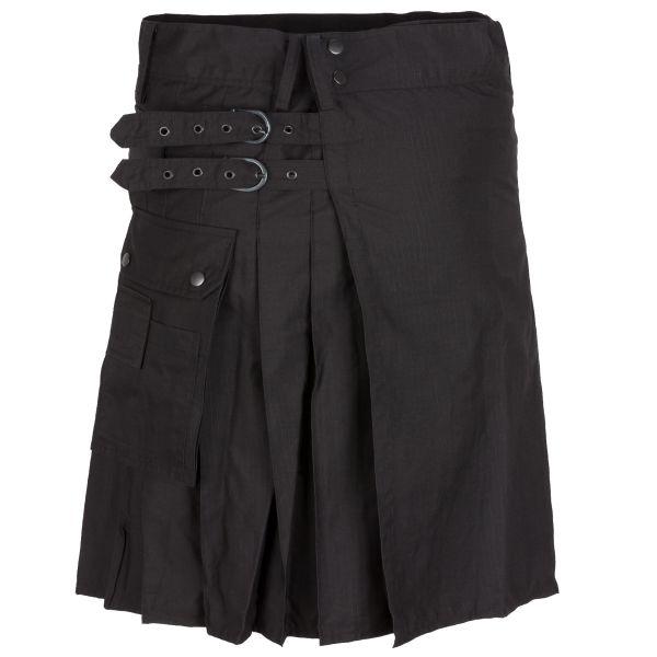 Highlander Combat Kilt schwarz