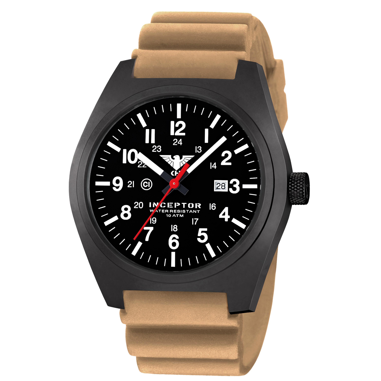 KHS Uhr Inceptor Black Steel Diverband tan