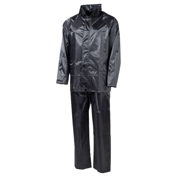 MFH Regenanzug Polyester schwarz