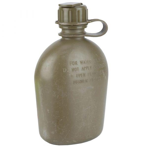 US Feldflasche 1 qt. oliv mit Bezug gebraucht