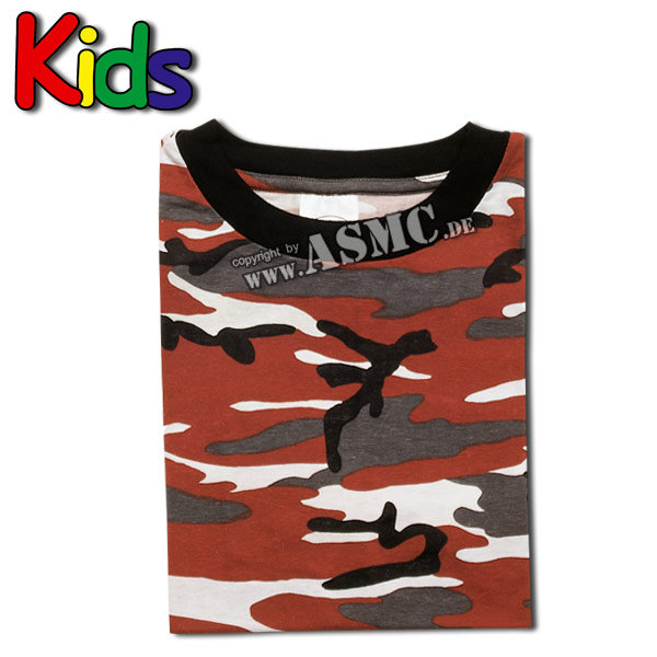 Kinder T-Shirt red-camo