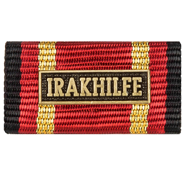 Ordensspange Auslandseinsatz IRAKHILFE bronze