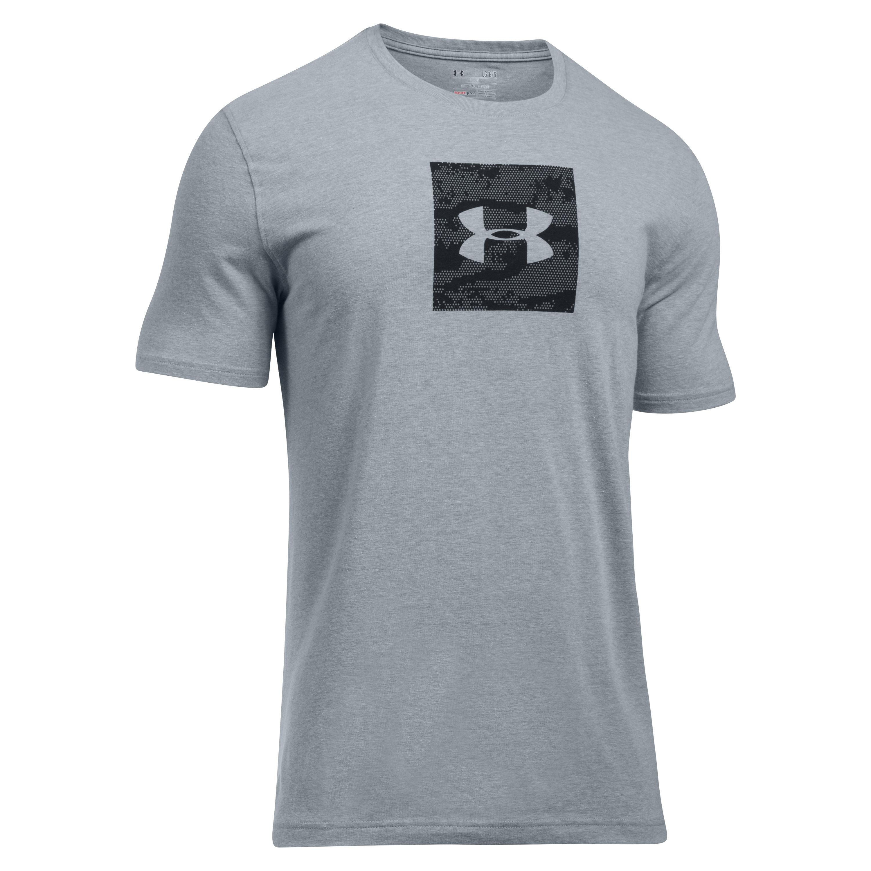 Under Armour T-Shirt Camo Boxed Logo SS grau-schwarz