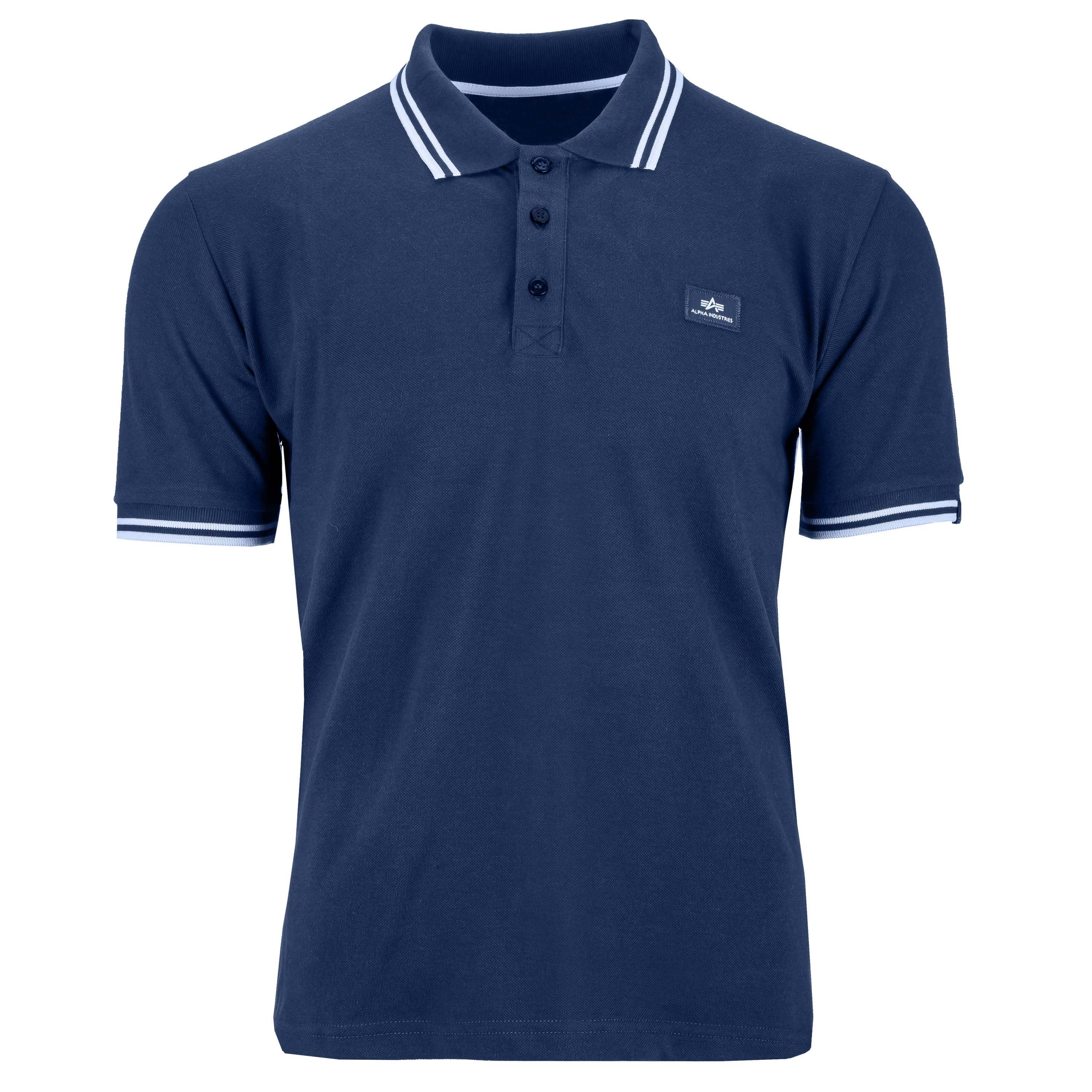 Alpha Industries Shirt Twin Stripe Polo II blau/weiß