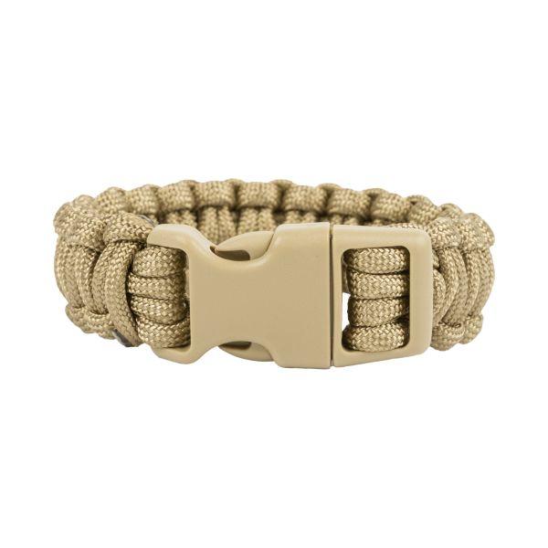 Survival Paracord Bracelet breit coyote