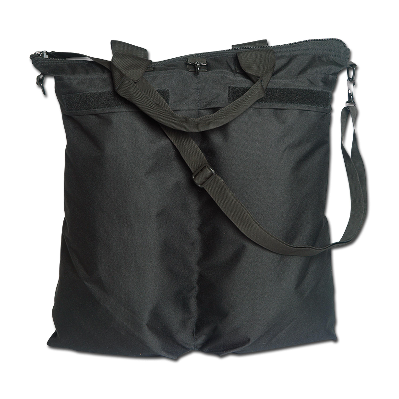 Helmtasche mit Schultergurt schwarz