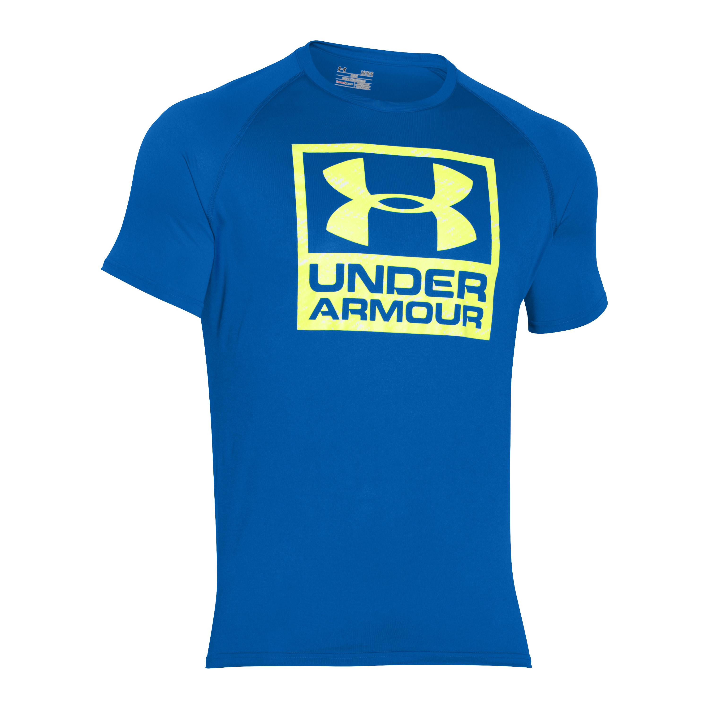 Under Armour T-Shirt Tech Boxed Logo blau-gelb