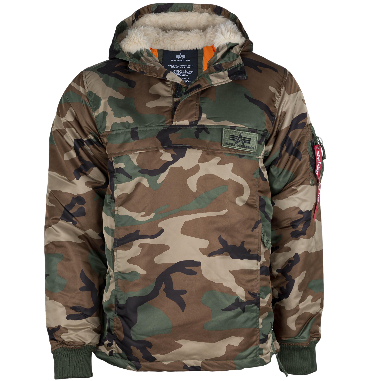 alpha industries jacke camouflage weiß