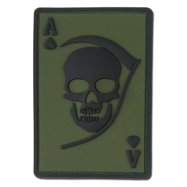 3D-Patch Death Ace oliv/schwarz